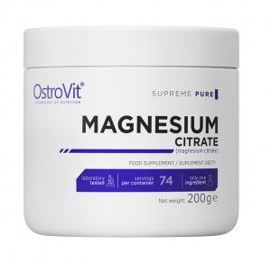 OstroVit Supreme Pure Magnesium Citrate 200 g Cytrynian magnezu