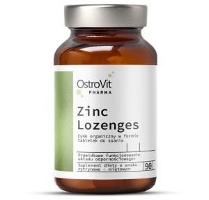 OstroVit Pharma Zinc Lozenges 90 tabs cynk tabletki do ssania