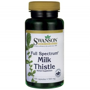 Swanson Full Spectrum Milk Thistle 500 mg 100 kaps ostropest plamisty